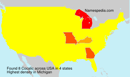 Surname Cocalic in USA