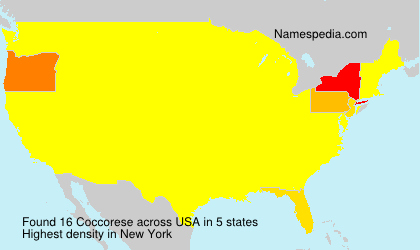Surname Coccorese in USA
