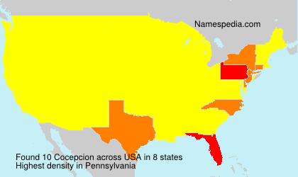 Surname Cocepcion in USA