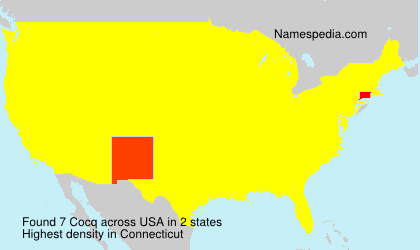 Surname Cocq in USA