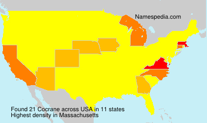 Surname Cocrane in USA