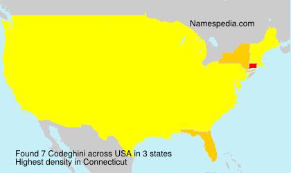 Surname Codeghini in USA