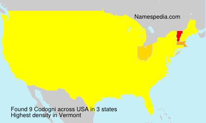 Surname Codogni in USA