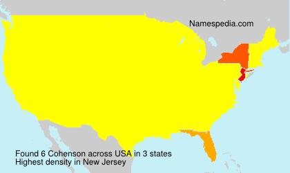 Surname Cohenson in USA