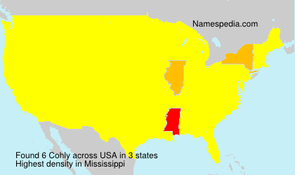 Surname Cohly in USA