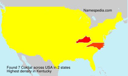 Surname Cokljat in USA