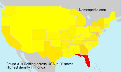 Familiennamen Colding - USA