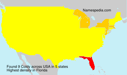 Surname Coldy in USA