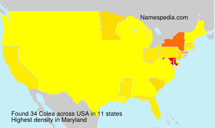 Surname Colea in USA