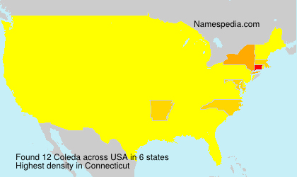 Surname Coleda in USA