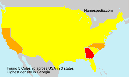 Surname Colesnic in USA