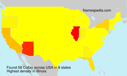Surname Collay in USA