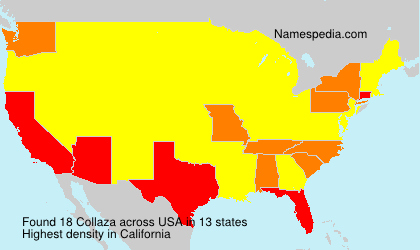 Surname Collaza in USA