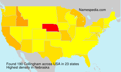 Surname Collingham in USA