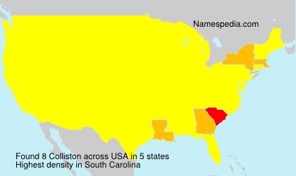 Surname Colliston in USA