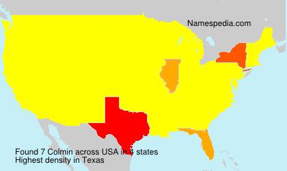 Surname Colmin in USA