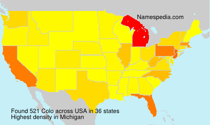 Surname Colo in USA