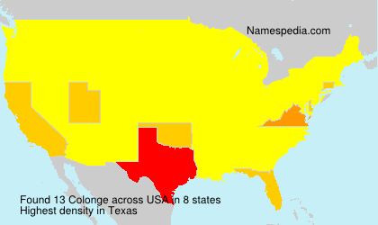 Surname Colonge in USA