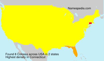 Surname Colossa in USA