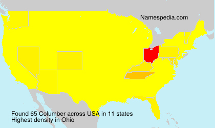 Surname Columber in USA