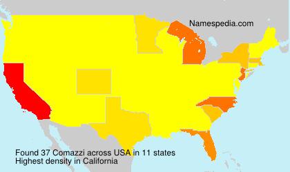 Surname Comazzi in USA