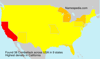 Surname Combellack in USA