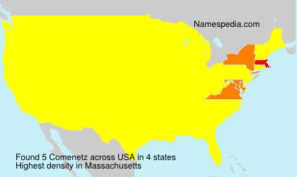 Familiennamen Comenetz - USA