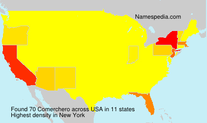 Surname Comerchero in USA