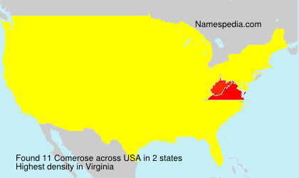 Surname Comerose in USA