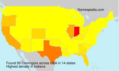 Familiennamen Comingore - USA