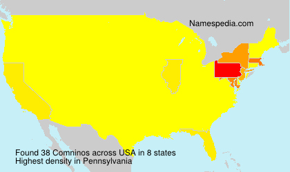 Surname Comninos in USA