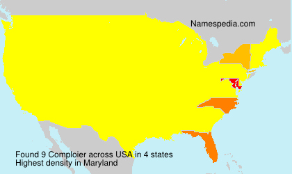 Surname Comploier in USA