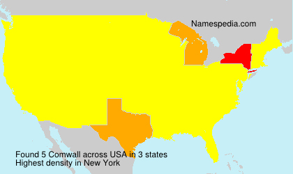 Surname Comwall in USA
