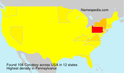 Surname Conaboy in USA