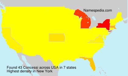 Surname Concessi in USA