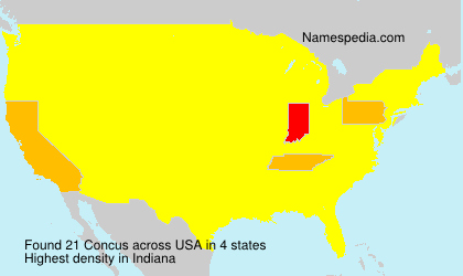 Surname Concus in USA