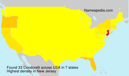 Surname Condorelli in USA