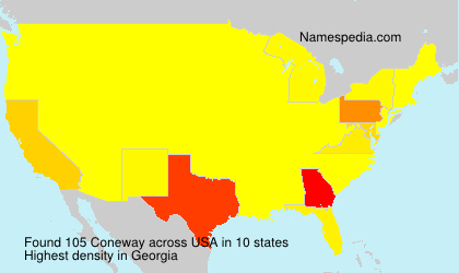 Surname Coneway in USA
