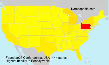 Surname Confer in USA