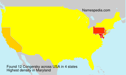 Familiennamen Congersky - USA