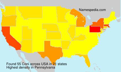 Surname Coni in USA