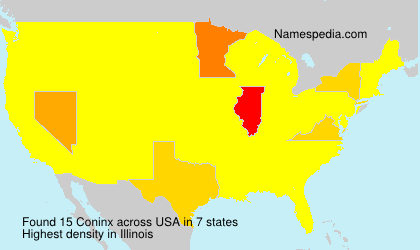 Surname Coninx in USA