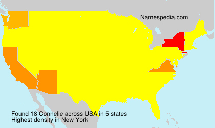 Surname Connelie in USA