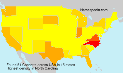 Surname Connette in USA