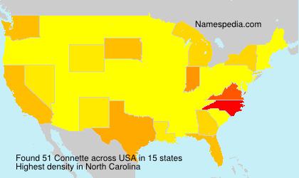 Surname Connette in USA