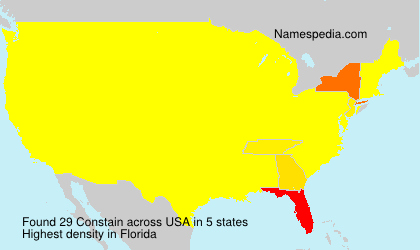 Surname Constain in USA