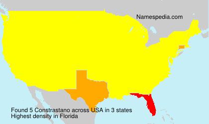 Familiennamen Constrastano - USA