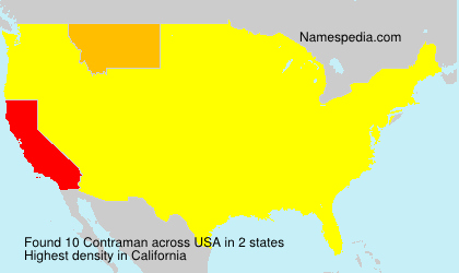 Surname Contraman in USA