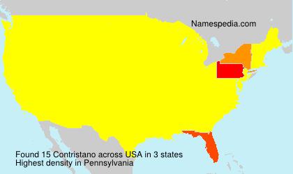 Surname Contristano in USA