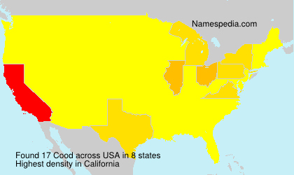 Surname Cood in USA